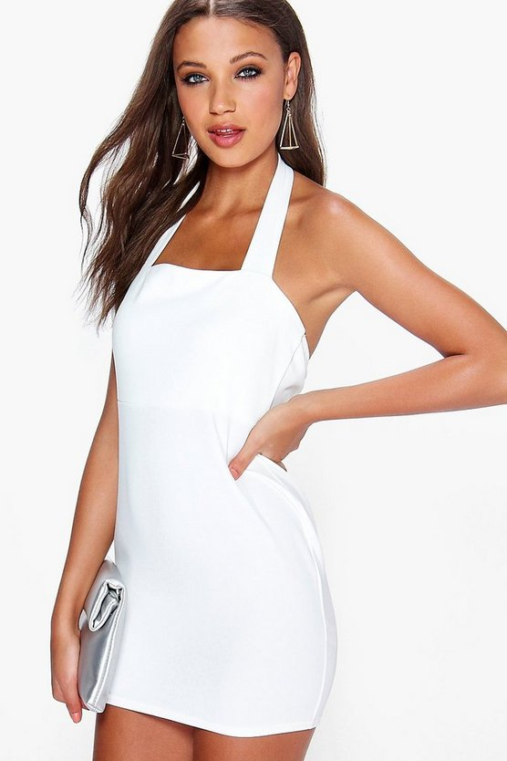 Gabby Crepe Halterneck Bodycon Dress