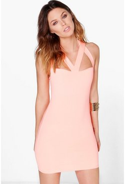 Desi Strappy Bodice Bodycon Dress