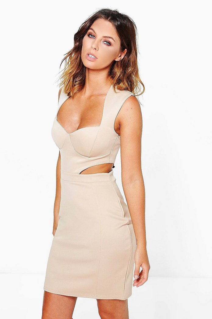 Robyn Sweetheart Cut Out Side Bodycon Dress