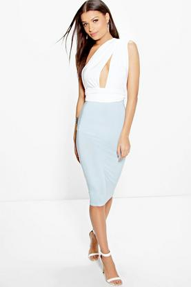 Mira Contrast Colour Multiway Midi Dress
