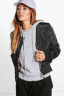 Maisy Faux Fur Lined Bomber Jacket