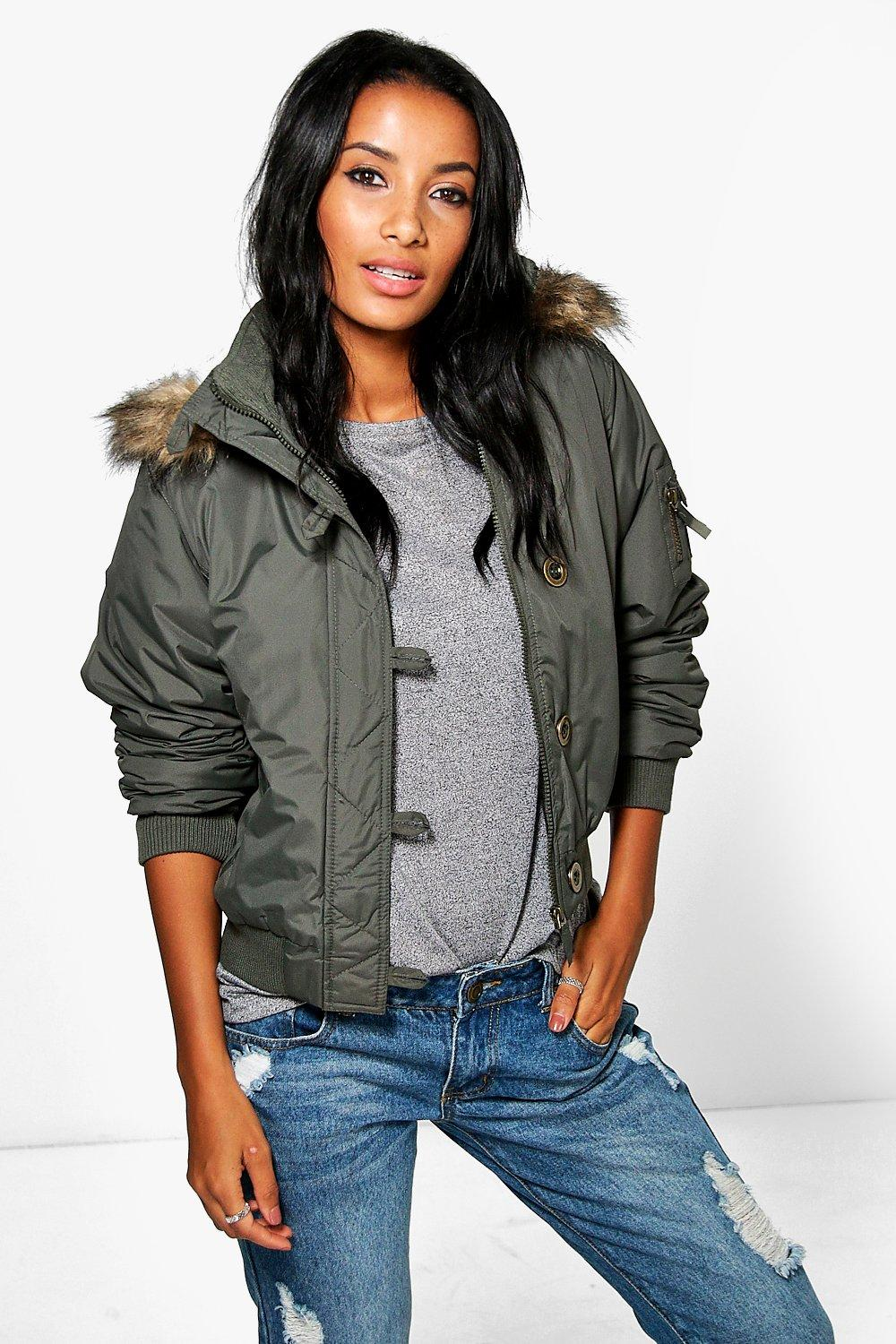 Amelia Button Down Short Parka
