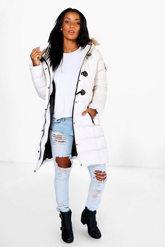 Hollie Quilted Faux Fur Hood Parka
