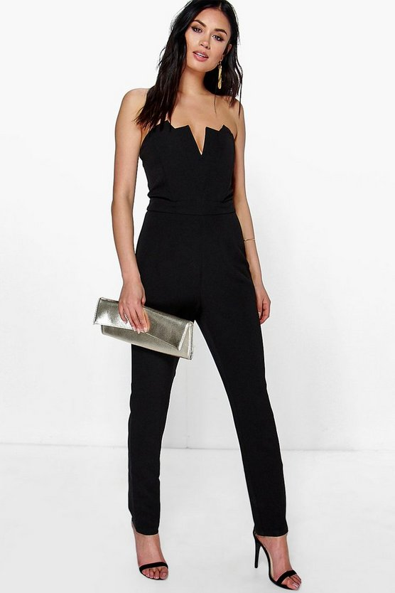 Eve Structured Bandeau Tapered Leg Jumpsuit