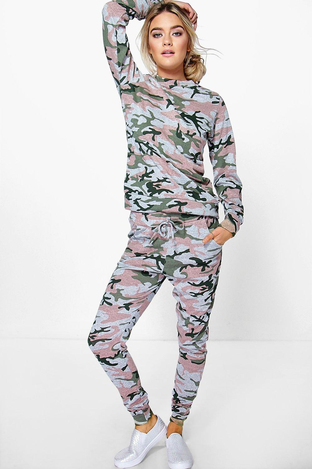 Maisy Camo Knitted Loungewear Set