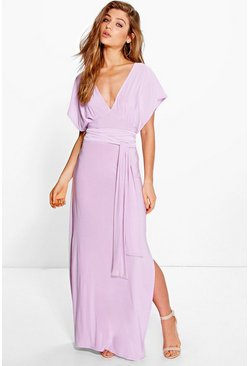 Veronica Obi Belt Maxi Dress