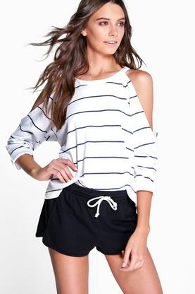 Bella Breton Stripe Cold Shoulder Stripe