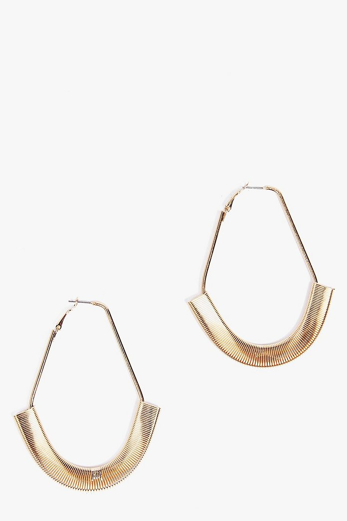Georgia Contrast Hoop Earrings