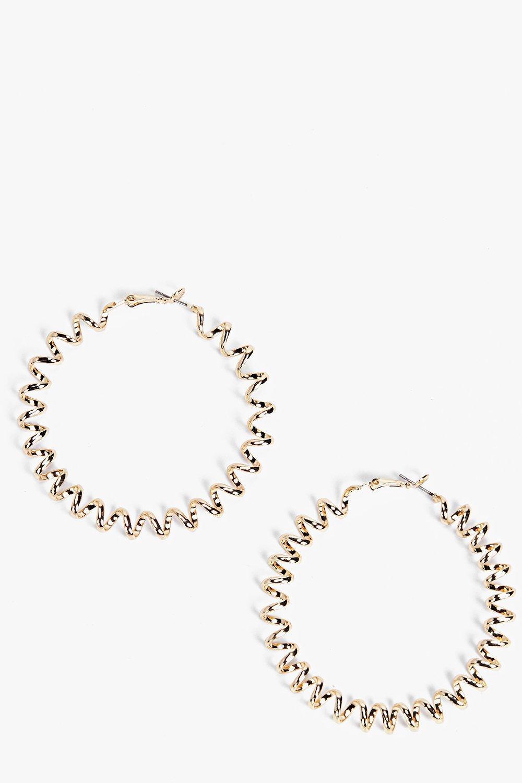 Twisted Hoop Earrings  gold