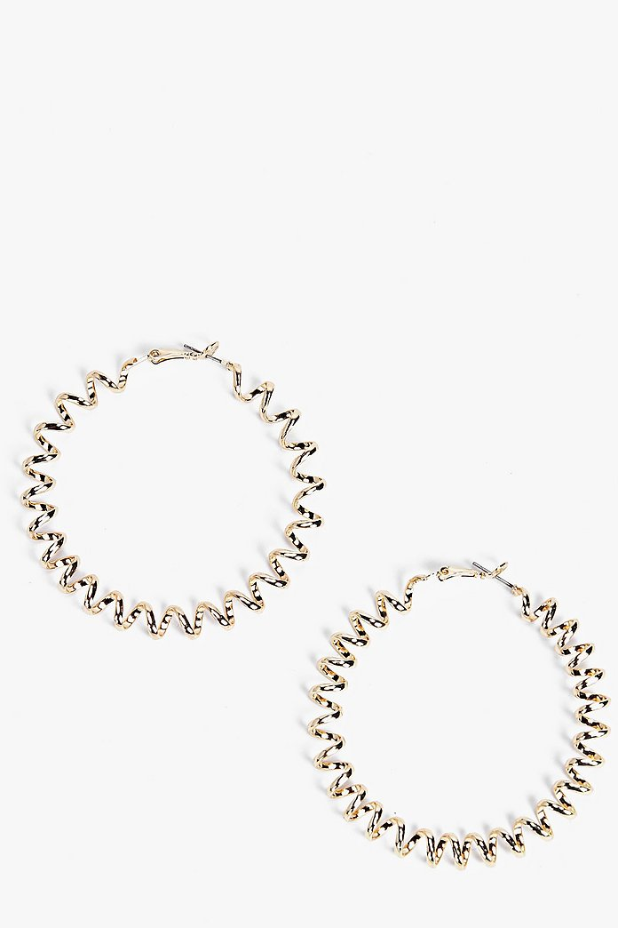 Bethany Twisted Hoop Earrings