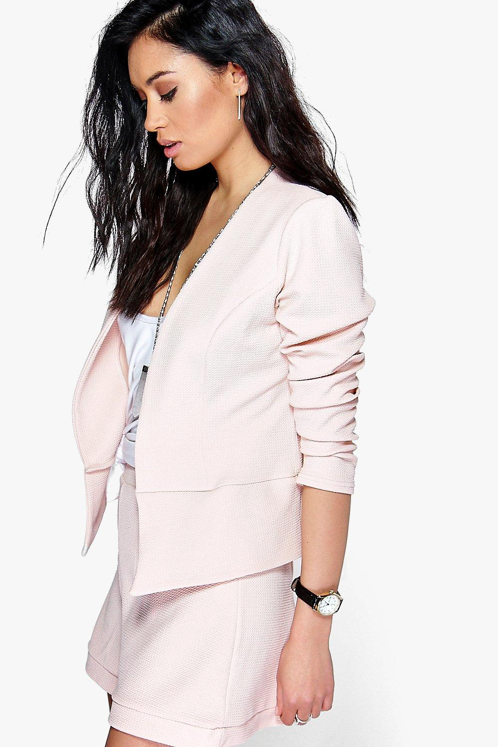 Faye Textured Edge To Edge Blazer