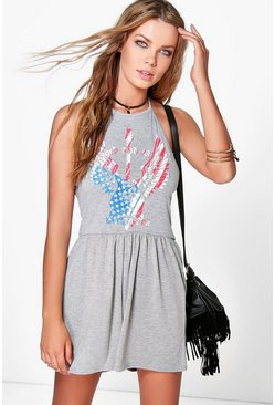 Ane Halter Neck Festival Playsuit
