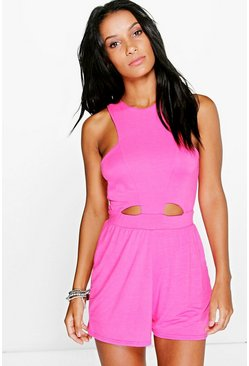 Lois Cut Out Front Jersey Playsuit