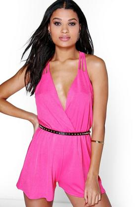 Alex Strappy Wrap Front Playsuit