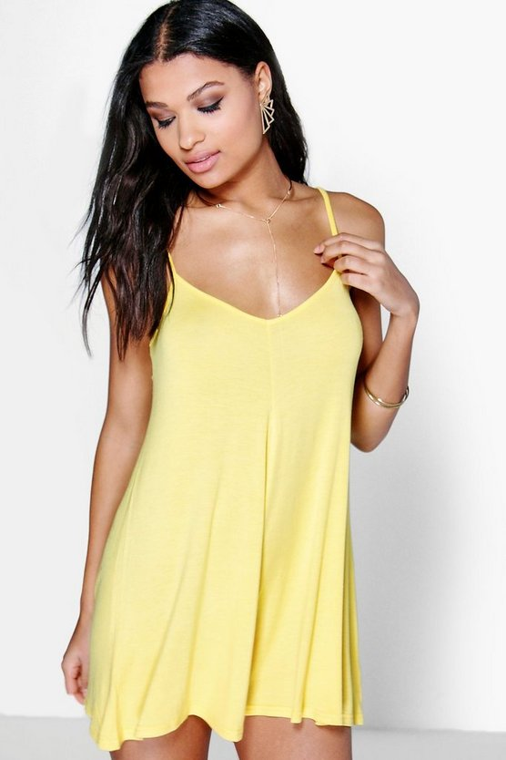 Bright Strappy Swing Playsuit