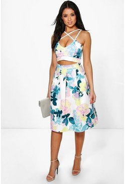 Tammy Strappy Crop & Full Midi Skirt Co-Ord Set