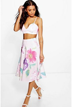 Hermione Floral Bodice & Midi Skirt Co-Ord Set