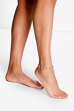 Isabel Tassel Beaded Anklet