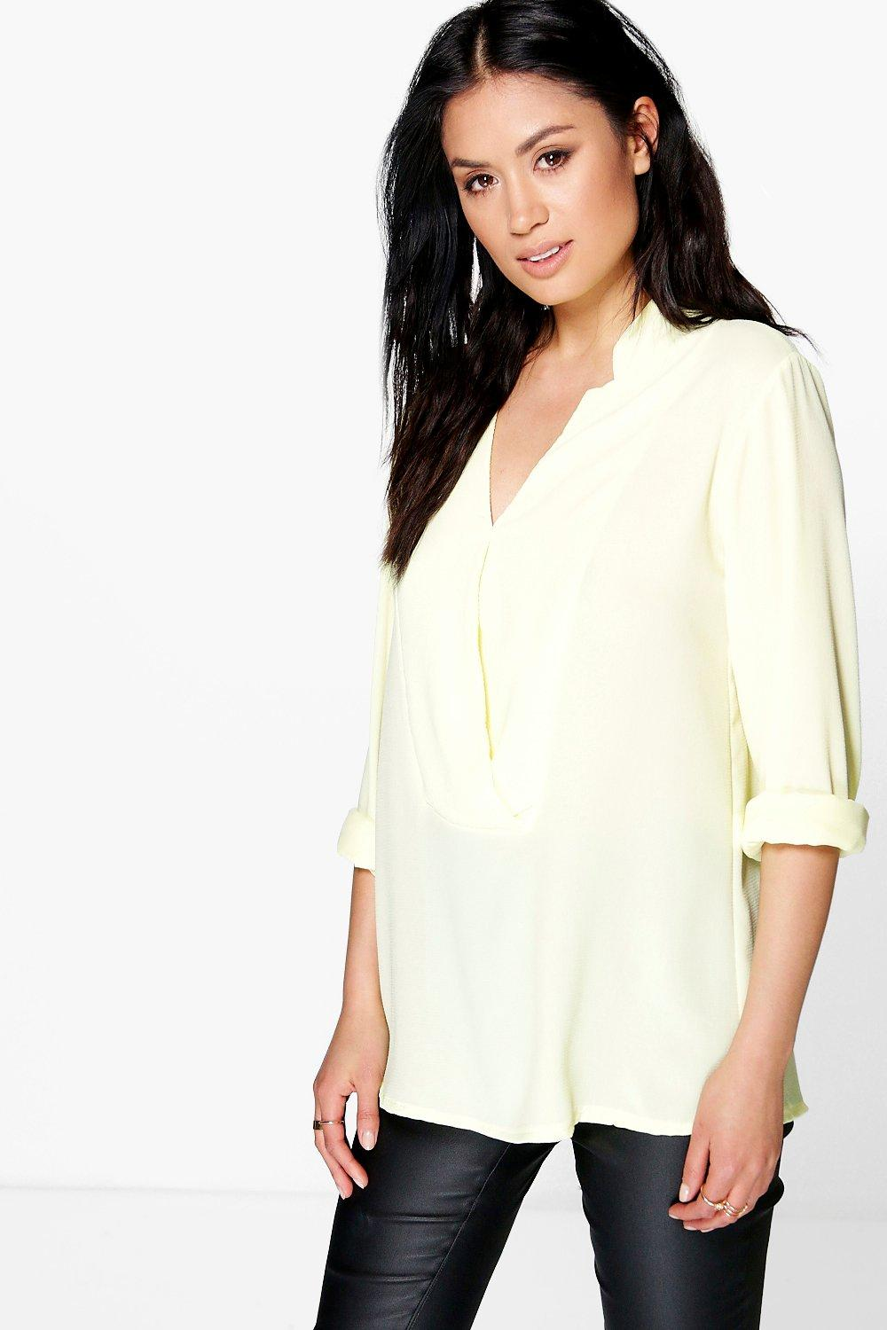 Cora Notch Neck Woven Shirt