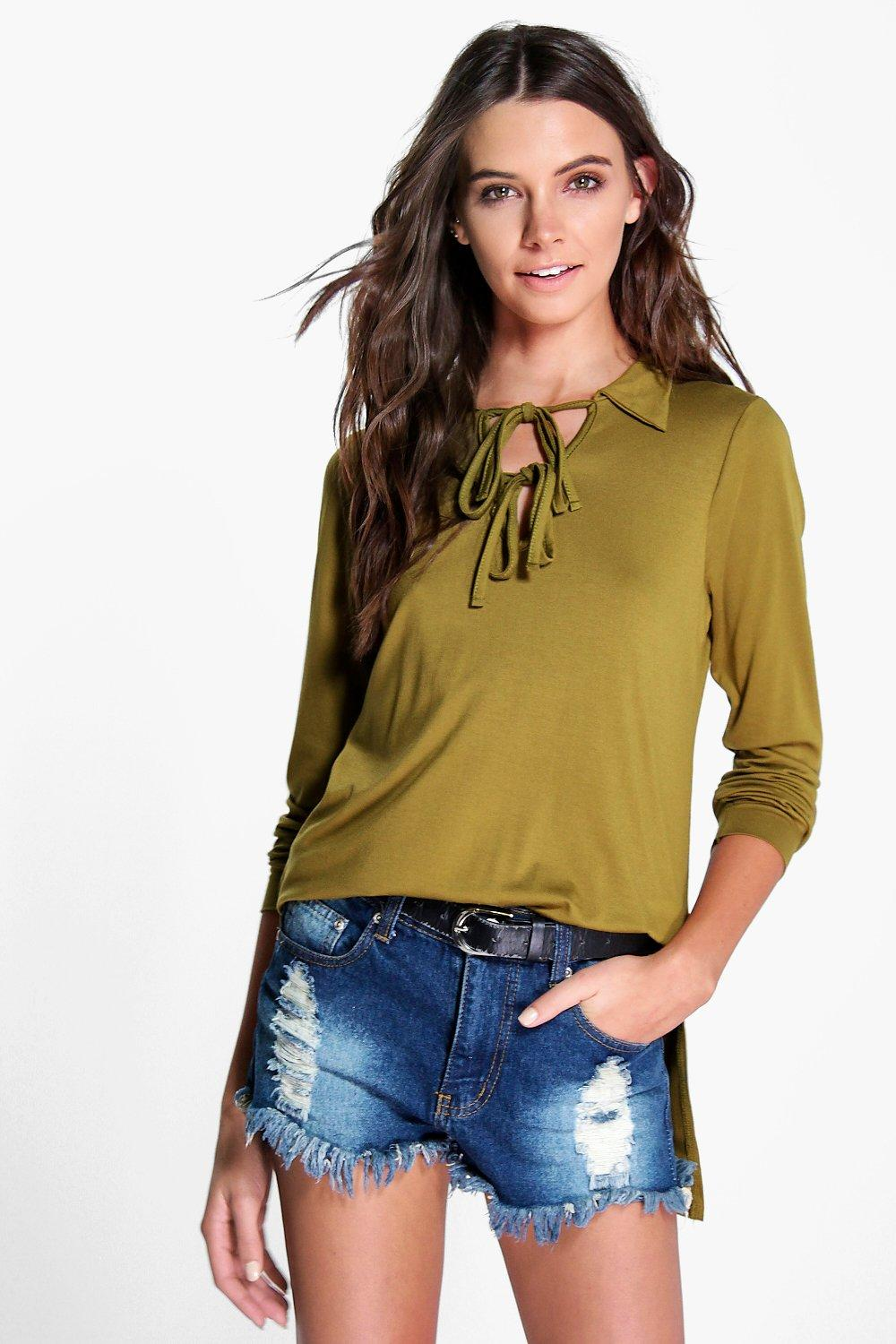 Bella Double Lace Up Front Tunic