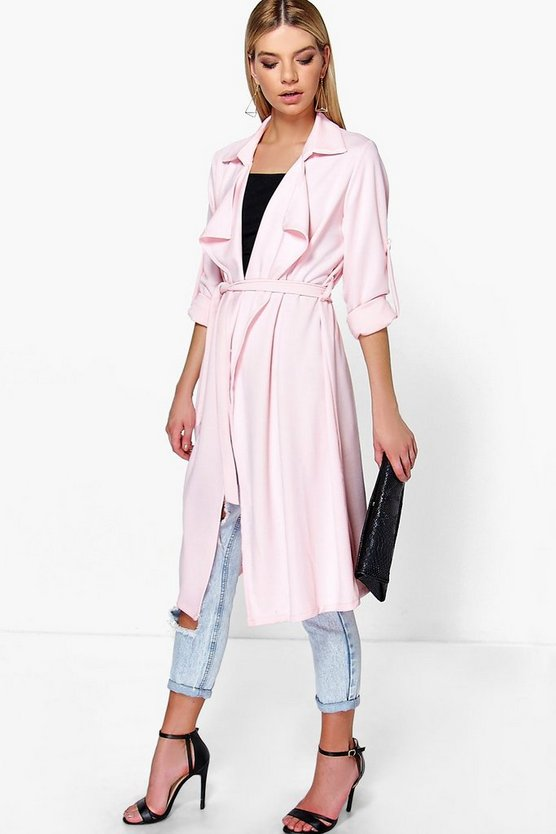 Freya Belted Waterfall Duster