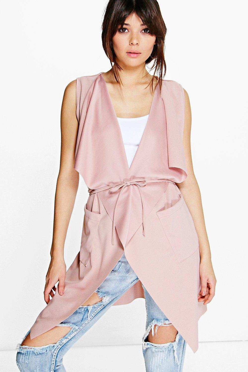 Angela Sleeveless Belted Duster