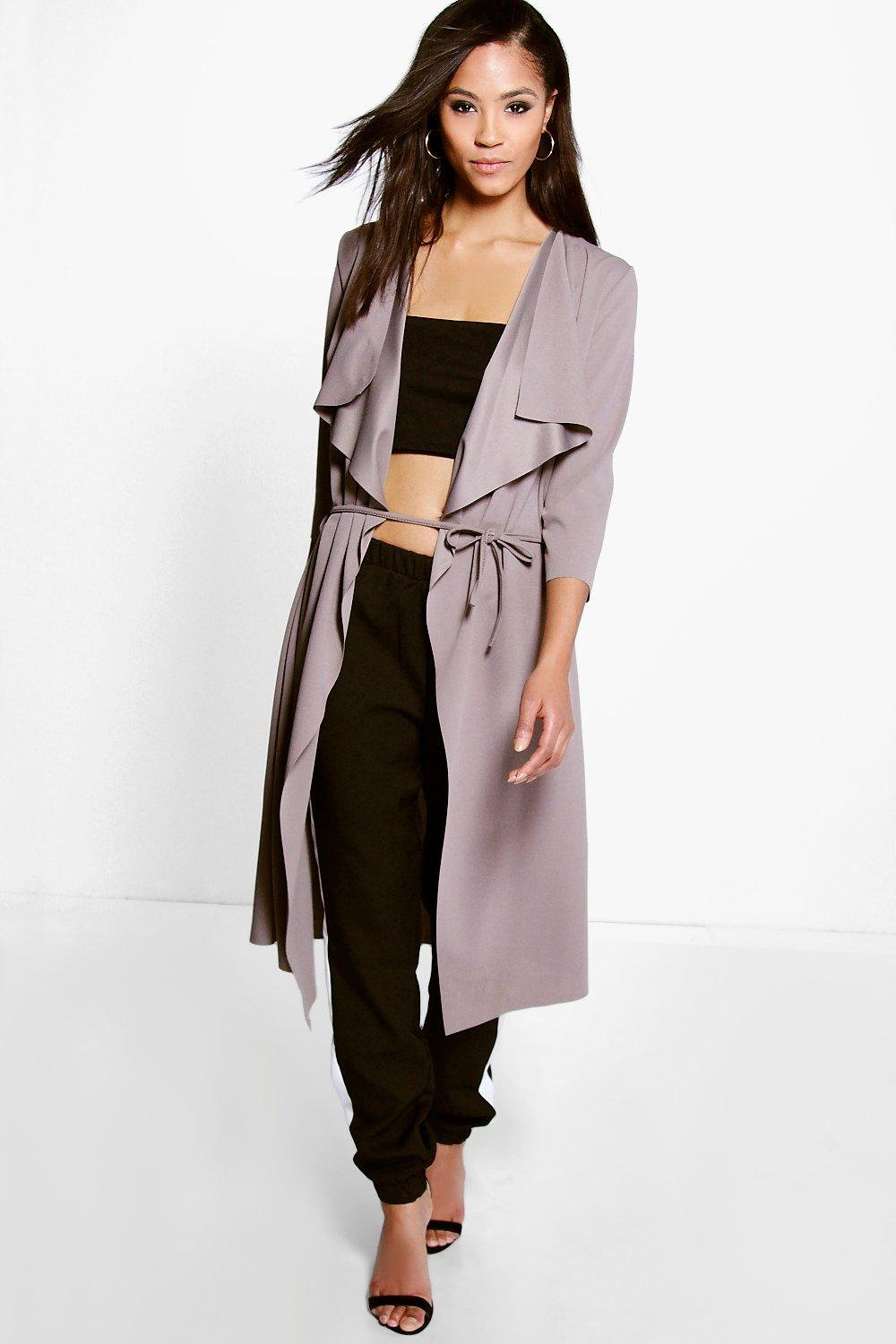 Maxi Belted Duster mocha