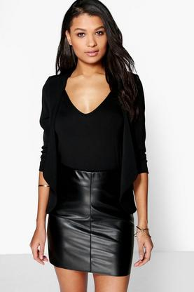 Anne Waterfall Ruched Sleeve Blazer