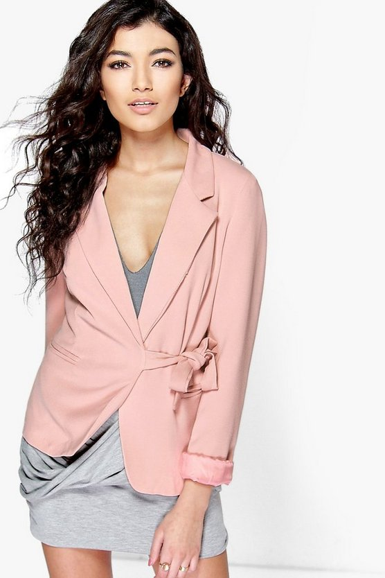 Jemima Tie Waist Tailored Blazer