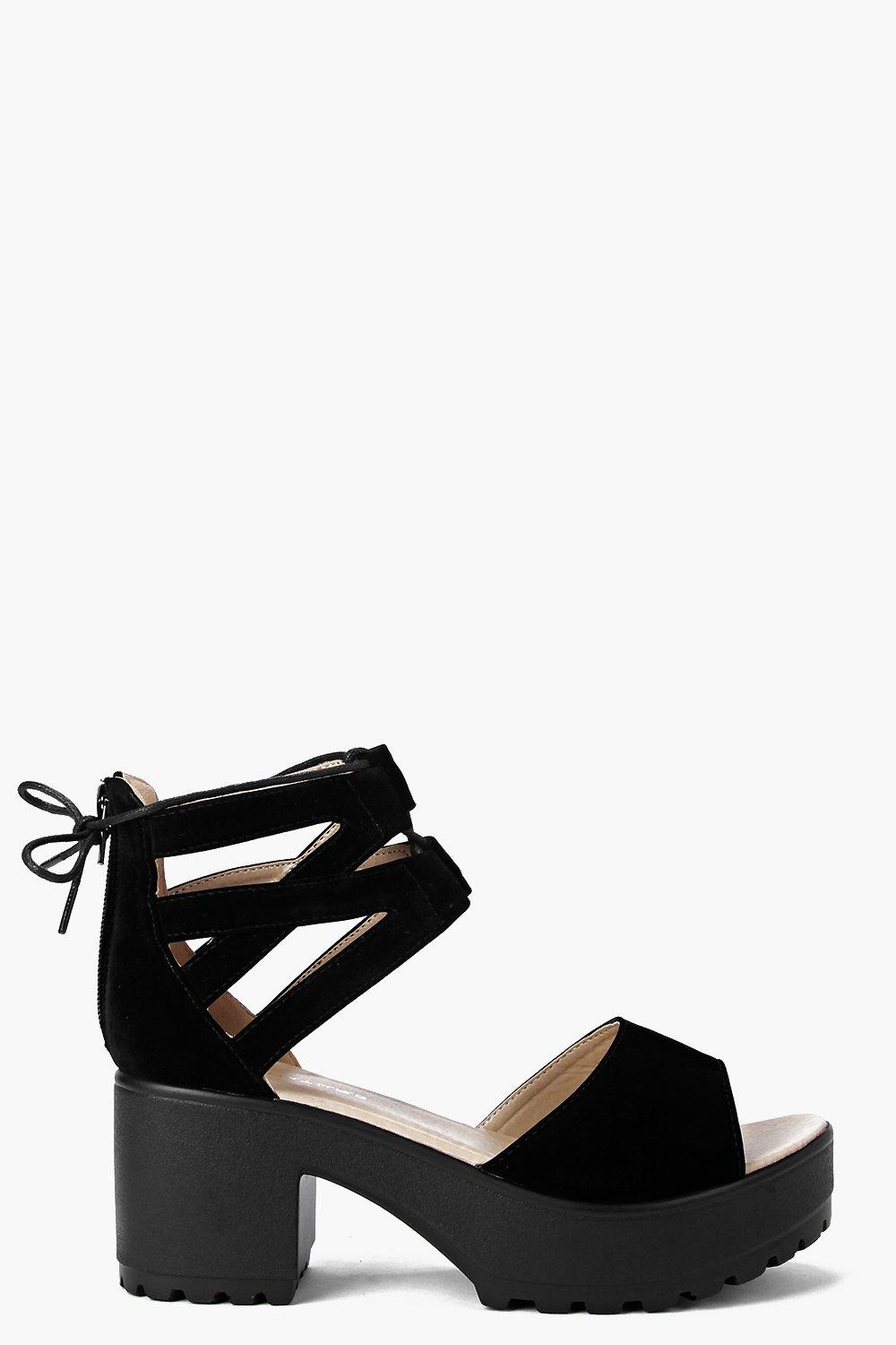 Amy Lace Up Two Part Cleated Sandal