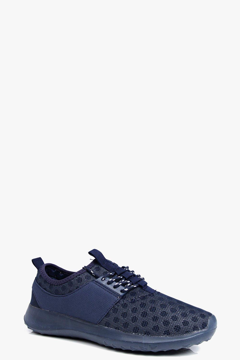 Imogen Polka Mesh Lace Up Trainer