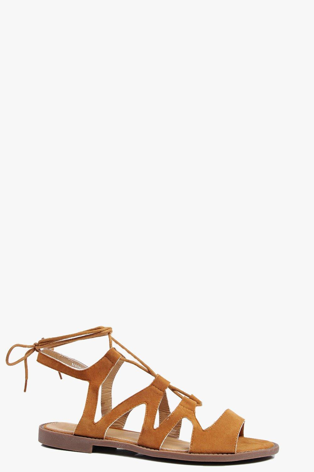 Aimee Lace Up Flat Sandal