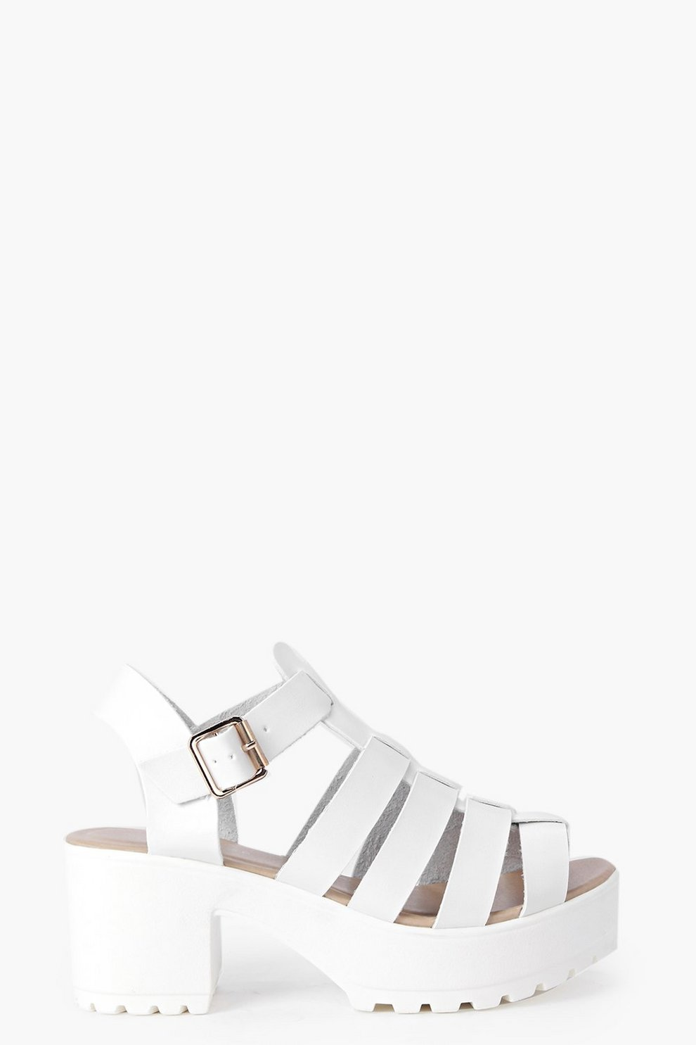 Lexi Cleated Fisherman Sandals boohoo neri Floreale