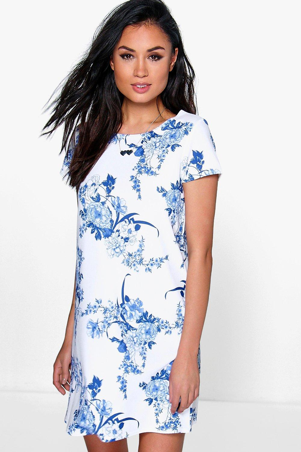 Sally Floral Cap Sleeve Shift Dress