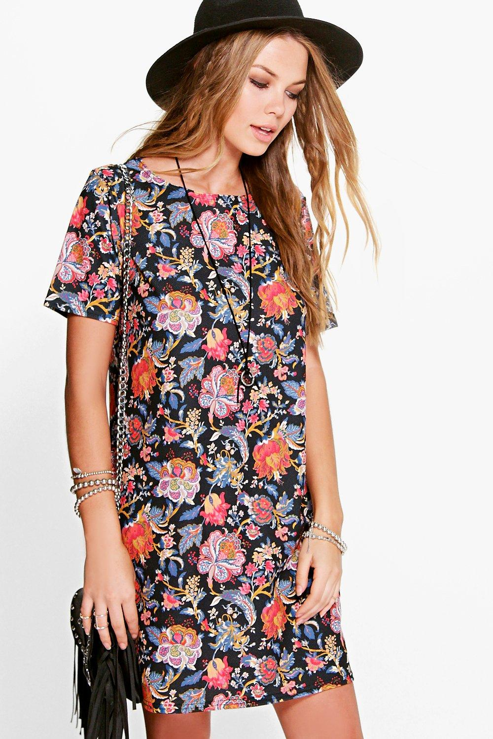 Sophia Floral Shift Dress