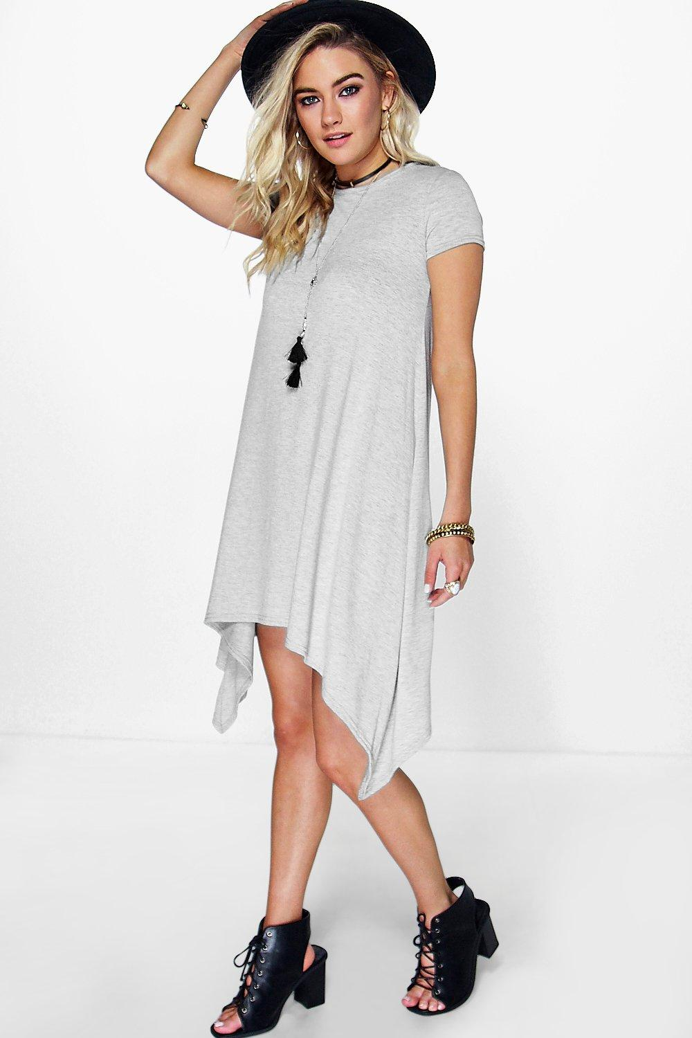 Dianne Short Sleeve Hem Swing Dress