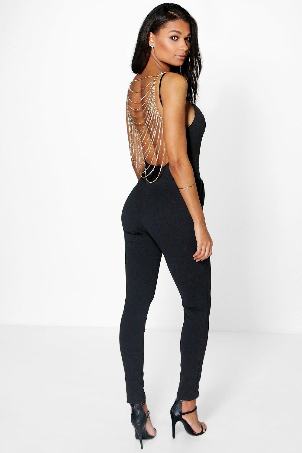 Sofia Chain Back Jumpsuit