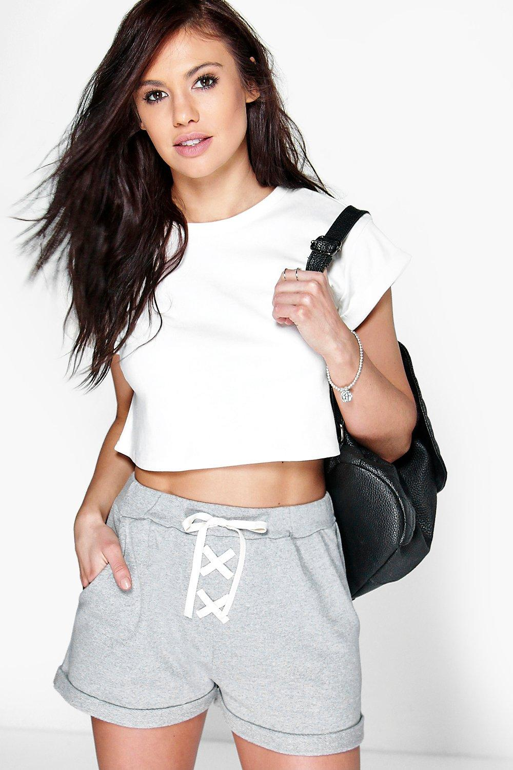 Katie Lace Up Jogger Style Shorts