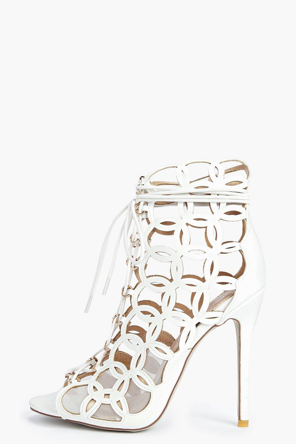 Daisy Laser Cut And Mesh Shoe Boot