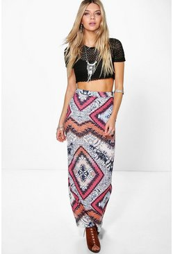 Savannah Festival Animal Maxi Skirt