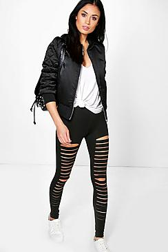 boohooAmalia Split Front Basic Leggings