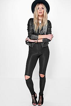 Nala Split Knee Basic Viscose Leggings