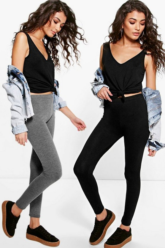 Annie 2 Pack Basic Jersey Leggings