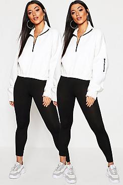 Confezione con 2 paia legging basic in jersey