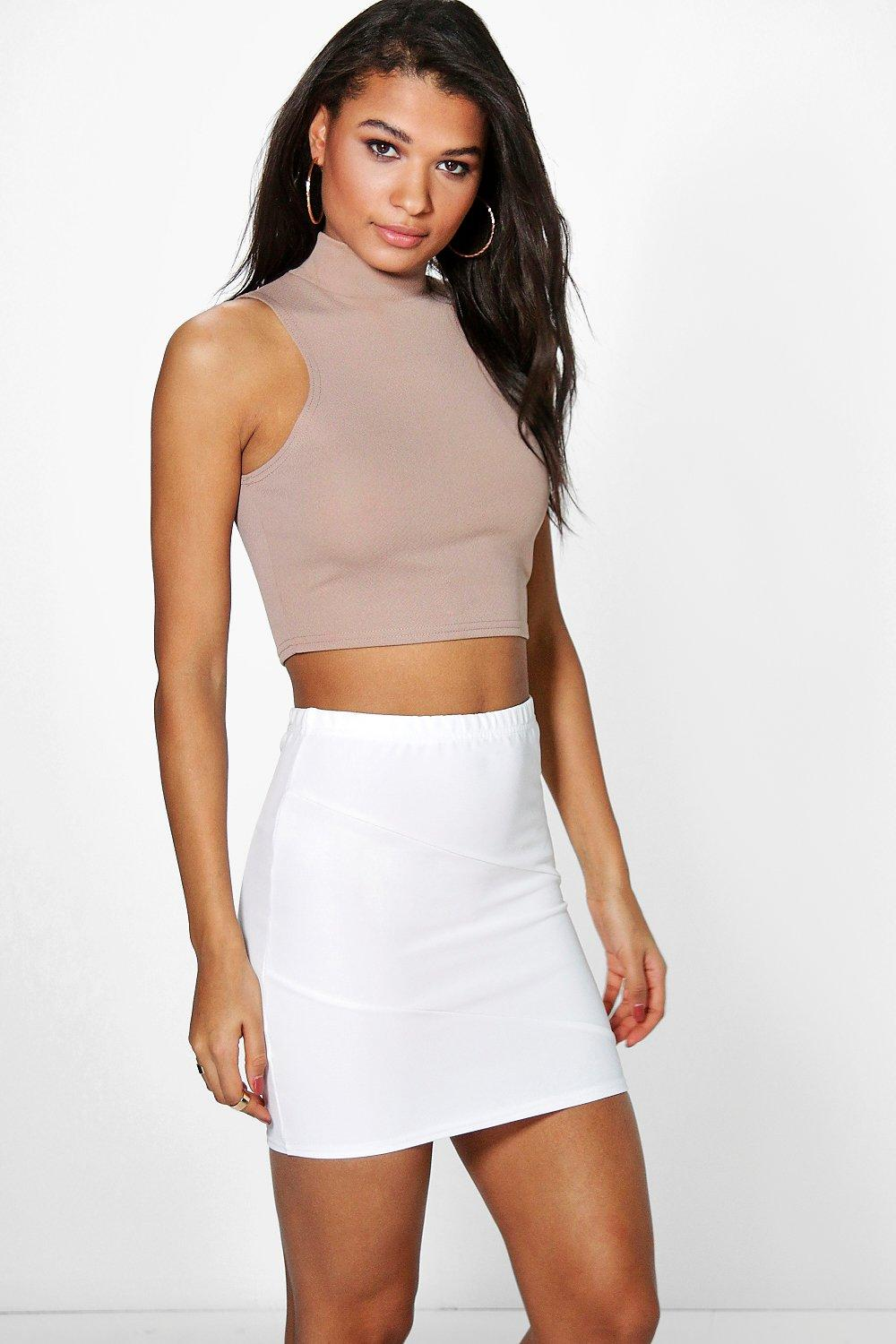 Lorelai Ribbed Panel Mini Skirt