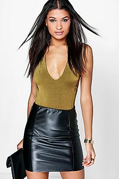 Sofie Leather Look Mini Skirt