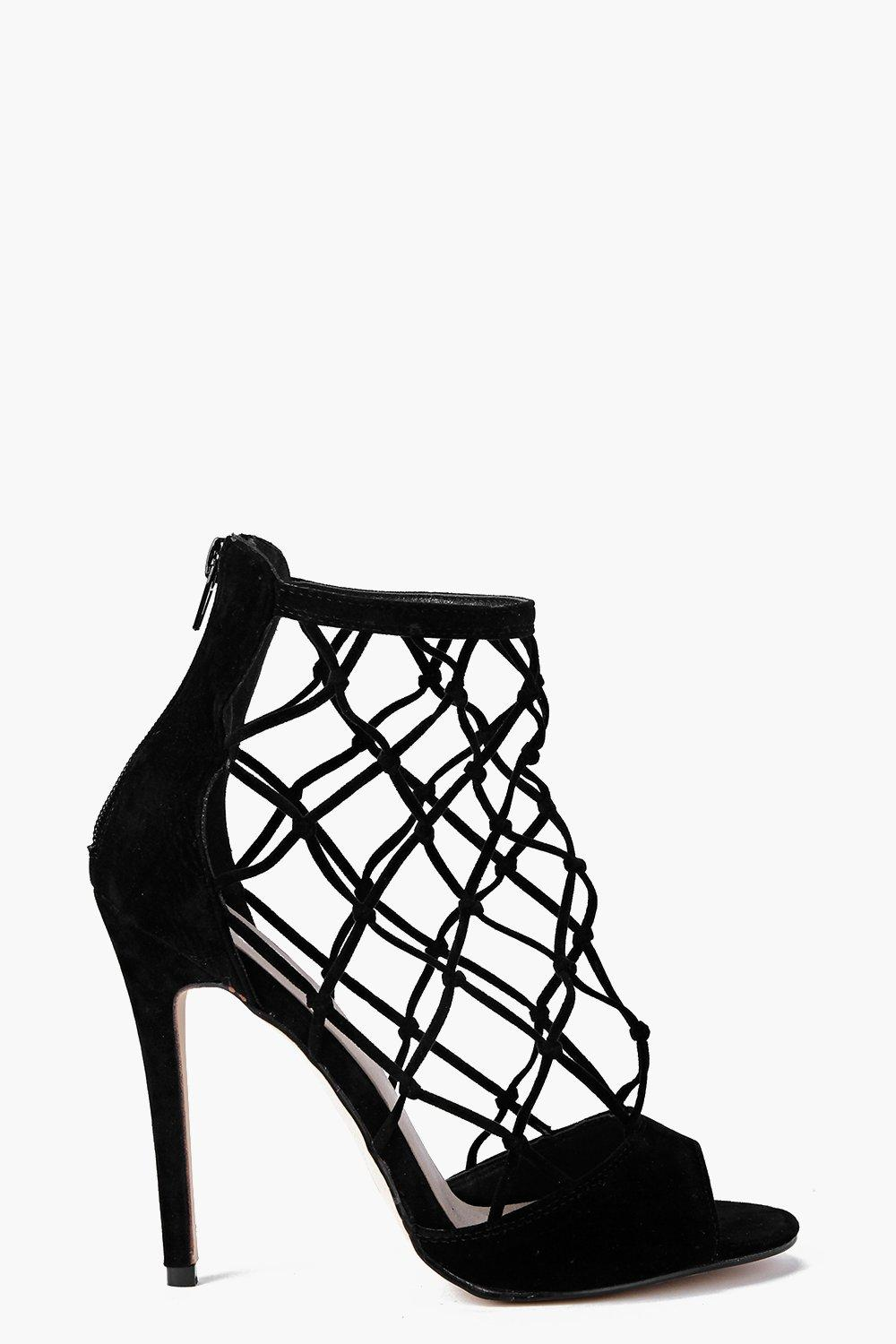 Zoe Peeptoe Lattice Cage Shoe Boot