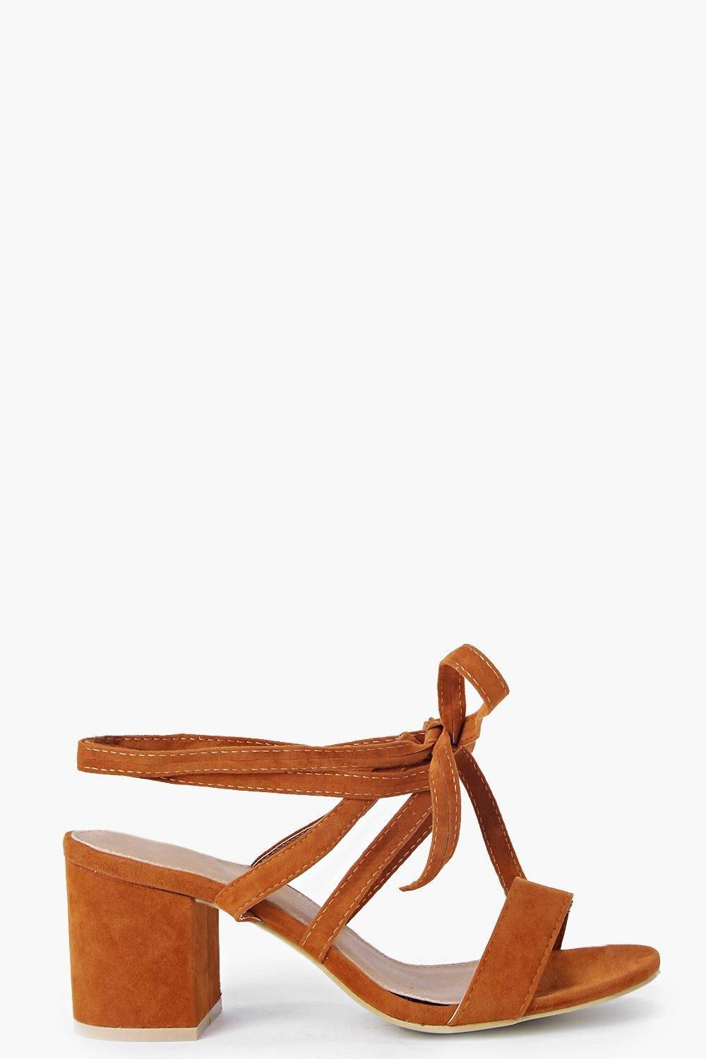 Eva Low Block Heel Wrap Strap Heel