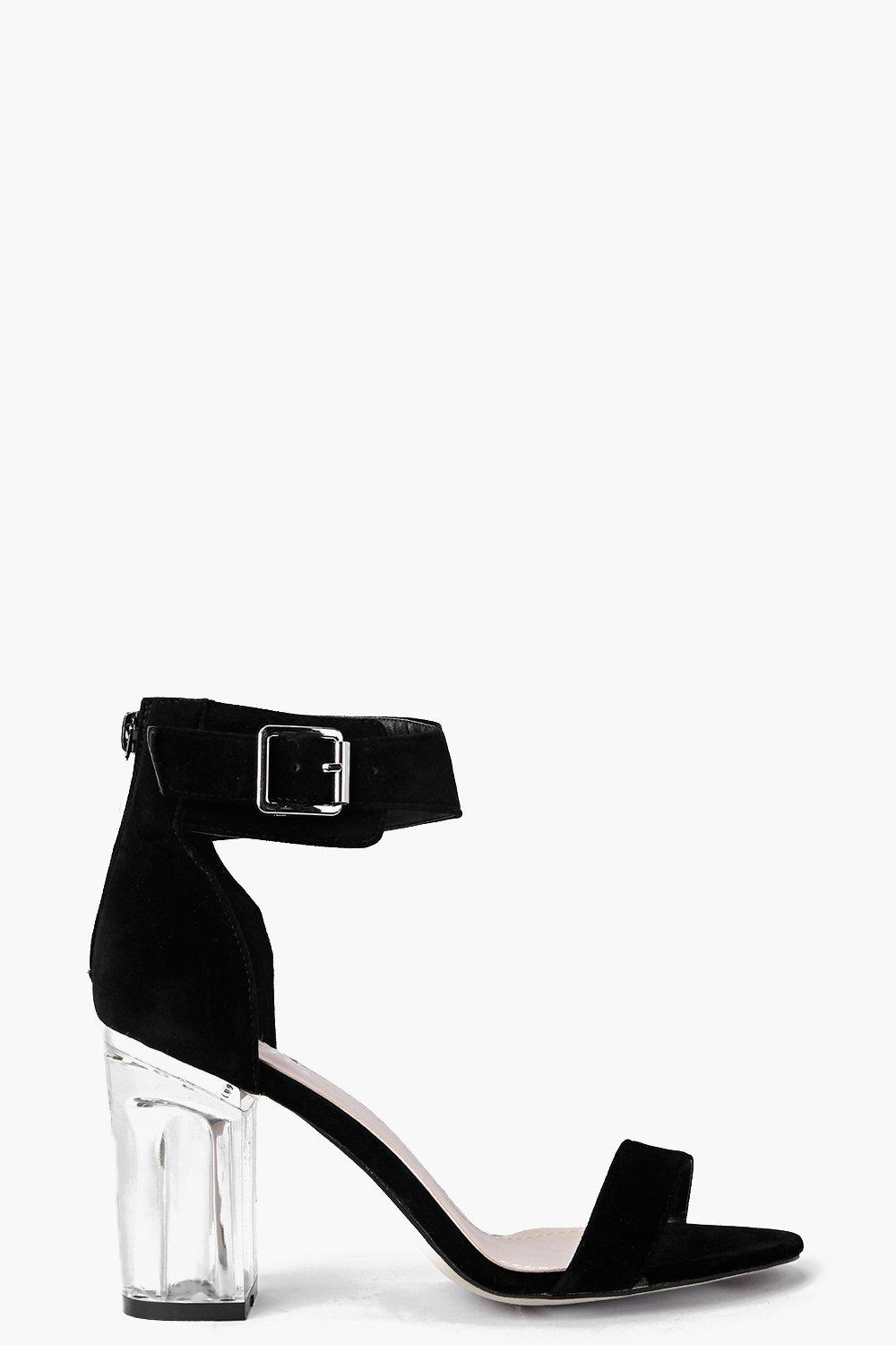 Ivy Perspex Block Two Part Heels