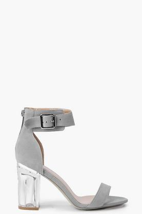 Ivy Clear Block Heel Two Part